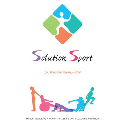 Conceptualisation, recherche de nom, communication d'entreprise pour entreprise Solution Sport Florence Cailloux Millau